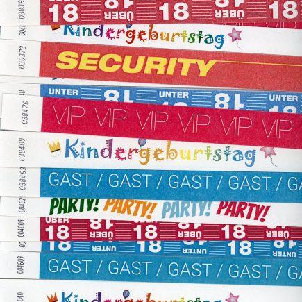Einlassbänder - Bedruckt - Fertige Designs Thema Party